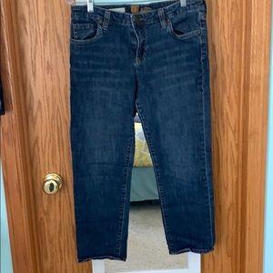 Kut From the Cloth Skinny Bardot Capri Jeans 10